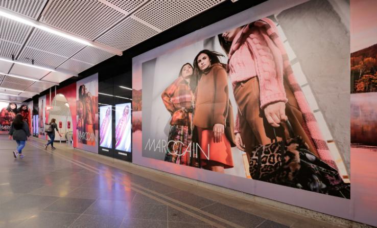 Mode auf Plakat